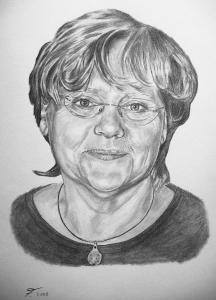 Bleistiftzeichnungen, Portraitzeichnung  Frau, Portrait zeichnen lassen, Portrait vom Foto mit Bleistift, Bleistiftzeichnung
