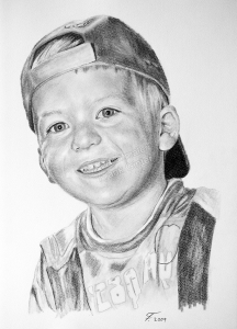 Bleistiftzeichnung eines Jungen, Portraitzeichnung, Kinder, Bleistiftzeichnungen Portrait, Portraitzeichner