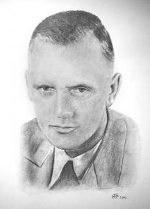 Bleistiftzeichnungen, Portraitzeichnung  altes Foto, Portrait zeichnen lassen, Portrait vom Foto mit Bleistift, Bleistiftzeichnung Mann