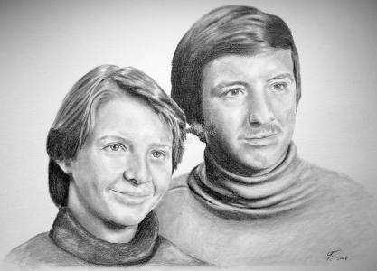 Bleistiftzeichnung, Portraitzeichnung - Paar, Bleistiftzeichnungen, Bleistift Portraits, Portraitzeichnungen, Paarzeichnung Paarportrait