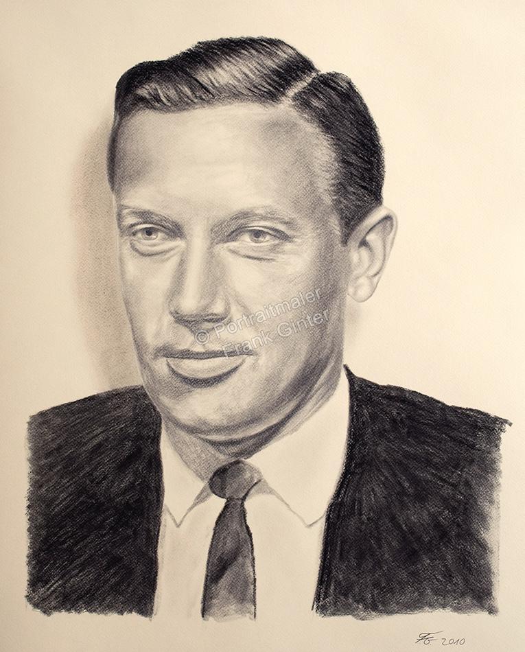 Kohlezeichnung eines Mannes, Portraitzeichnung, Kohlezeichnungen Portrait, Portraitzeichner, Vater Du fehlst mir