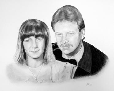 Kohlezeichnung, Portraitzeichnung - Menschen, Kohlezeichnungen Hochzeit, Kohle Portraits, Portraitzeichnungen Silberhochzeit