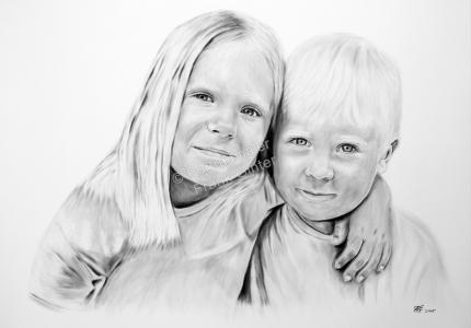 Ölgemälde Dry Brush Portraitmalerei, Portraitgemälde, Kinder Junge Mädchen, Portraitmaler