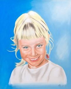 Gemalte Bilder, Pastellbilder, Porträtmalerei, Mädchen, Portrait malen lassen, portraitieren, Portrait vom Foto, Pastell Kinderportrait