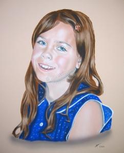 Handgemalte Bilder, Portraitmalerei, Bilder malen lassen, Portraitmaler, Pastellgemälde Mädchen, Pastellmalerei Kinder