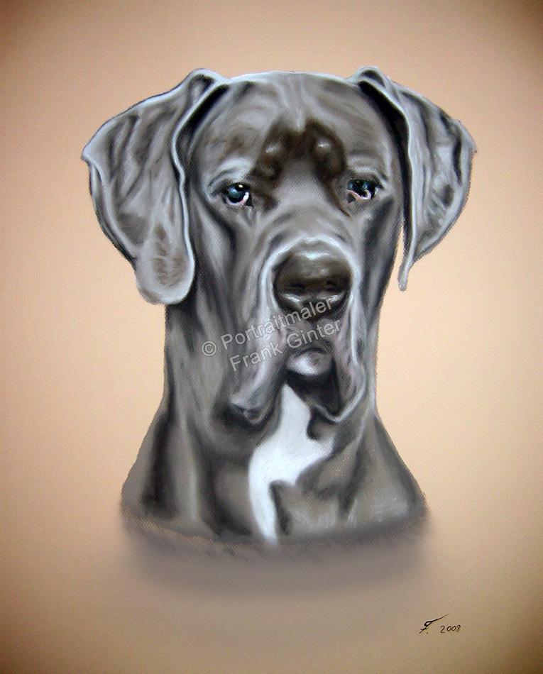 Handgemalte Bilder, Tiermalerei, Bilder malen lassen, Tiermaler, Hunde, Tierportraits, Hundeportrait, Hundegemälde Dogge