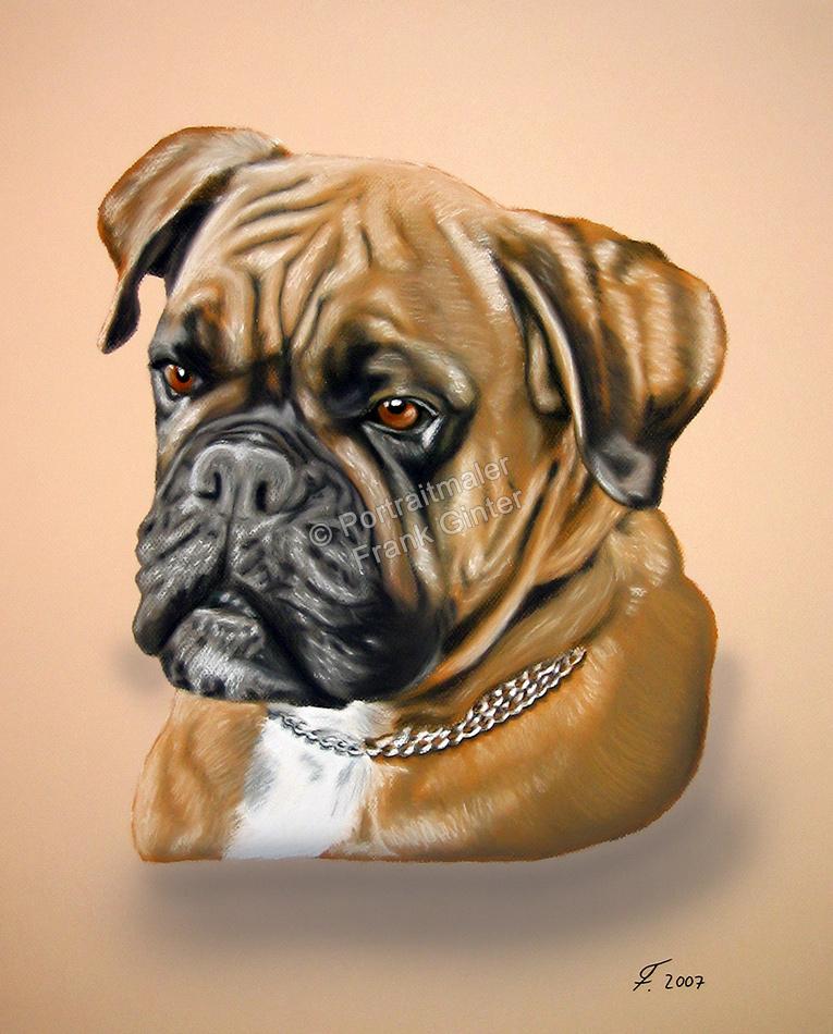 Handgemalte Bilder, Tiermalerei, Bilder malen lassen, Tiermaler, Hunde, Tierportraits, Hundeportrait, Hundegemälde Boxer