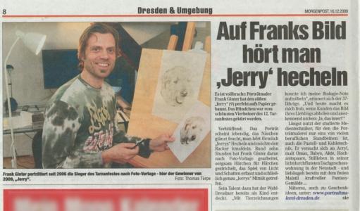 Portraitmaler F. Ginter, Dresdner Morgenpost Künstlerportrait 2009