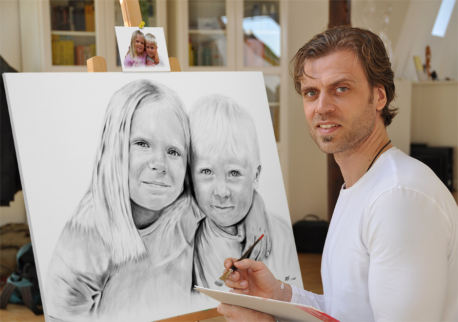 Portraitmaler, Portraitzeichner, Karikaturist, Tiermaler, Aktmaler, Aktzeichner und Pop Art Maler - F. Ginter