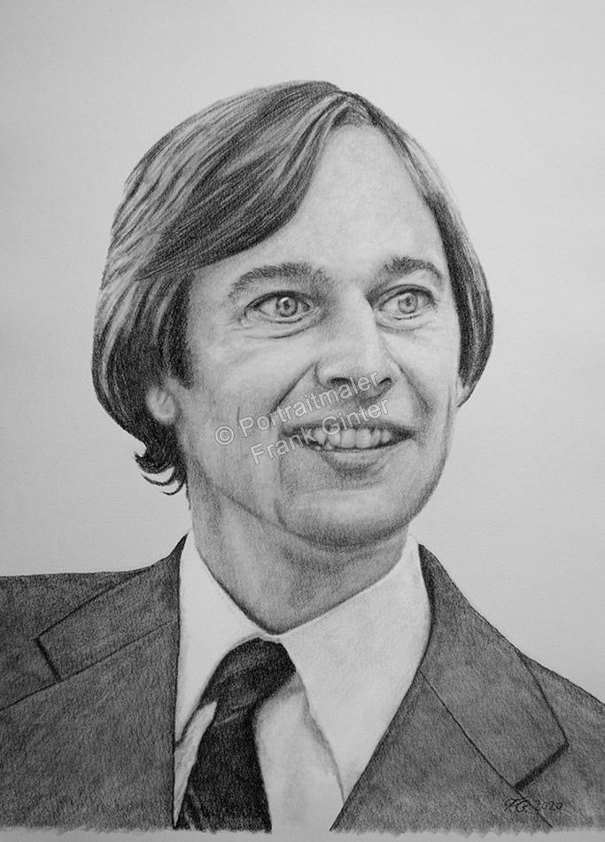 Bleistiftzeichnung eines Mannes, Portraitzeichnung, Bleistiftzeichnungen Portrait, Portraitzeichner