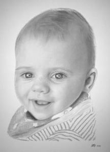Bleistiftzeichnungen Portraitzeichnung Baby-Portrait zeichnen lassen