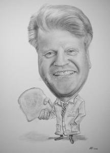 Karikatur, Kohlezeichnung, Karikatur-Zeichnung - Mensch, Kohlezeichnung, handgezeichnete Karikatur, Karikatur vom Foto