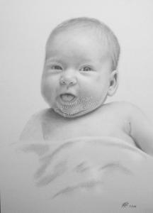 Bleistiftzeichnungen Portraitzeichnung, ein Baby-Portrait zeichnen lassen