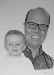 Bleistiftzeichnungen, Portraitzeichnungen, Kinder-Familien-Portraits zeichnen lassen