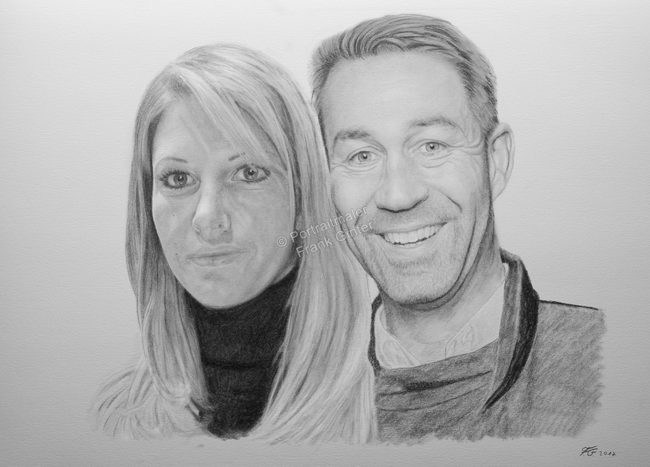 Bleistiftzeichnung, Portraitzeichnung - Mann und Frau, Bleistiftzeichnungen, Bleistift Portraits, Portraitzeichnungen