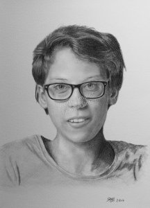 Bleistiftzeichnung Frau mit Brille, Portraitzeichnung, Bleistiftzeichnungen Portrait, Portraitzeichner