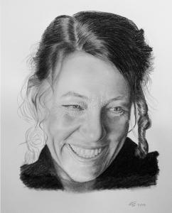 Kohlezeichnungen, Portraitzeichnung  Frau, Portrait zeichnen lassen, Portrait vom Foto mit Kohle, Kohlezeichnung