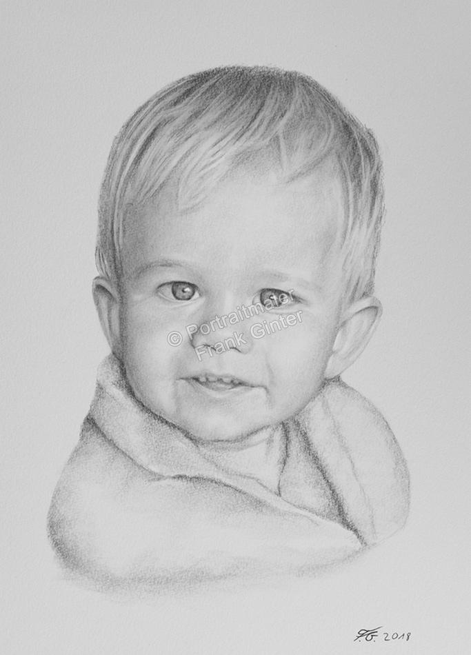 Bleistiftzeichnungen, Portraitzeichnungen, Jungen Portraits zeichnen lassen Kinder-Portraits