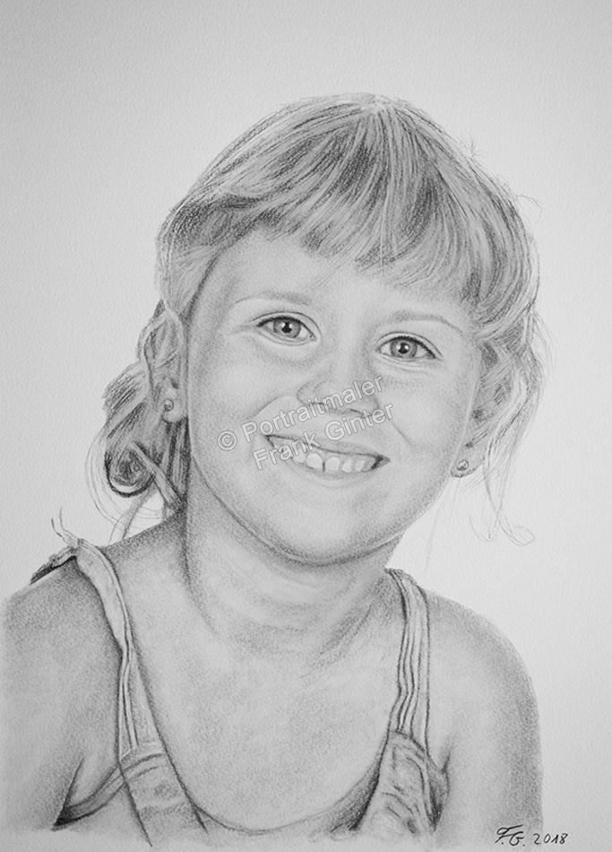 Bleistiftzeichnungen, Portraitzeichnungen, Mädchen Portraits zeichnen lassen Kinder-Portraits