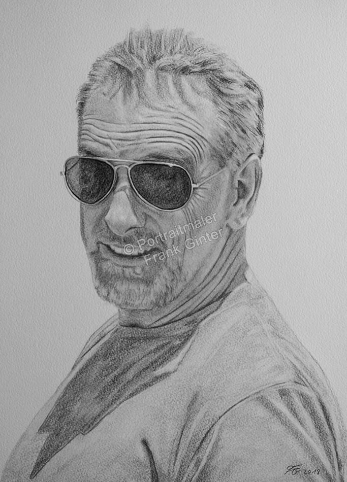 Bleistiftzeichnung, Portraitzeichnung, Bleistiftzeichnungen mit Mann, Bleistift-Portraits, Portraitzeichnungen mit Bleistiften