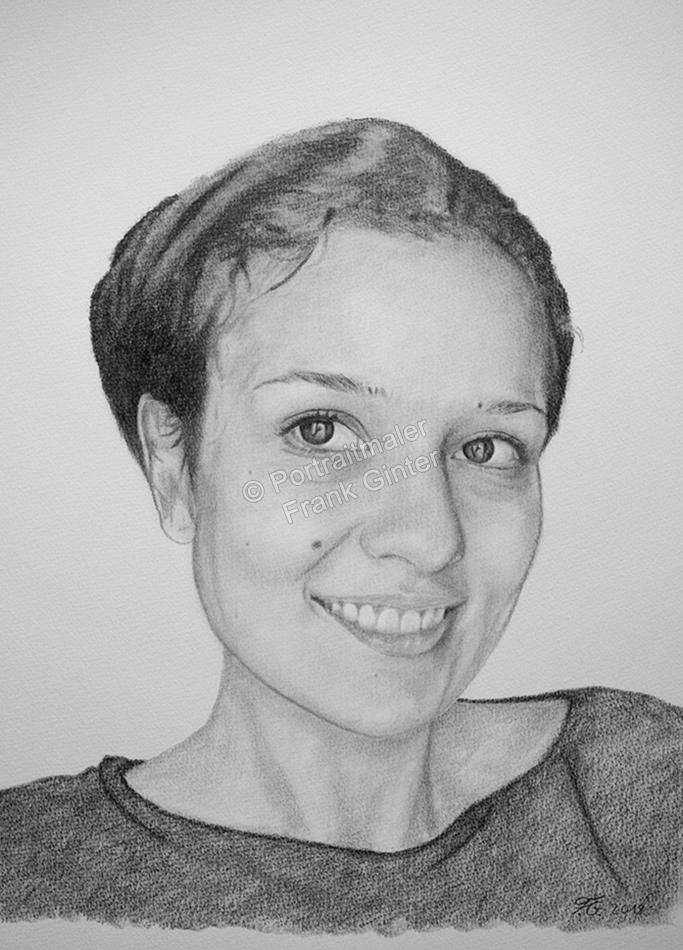 Kohlezeichnung, Portraitzeichnung - Frau, Kohlezeichnungen von Menschen, Kohle Portraits, Portraitzeichnungen