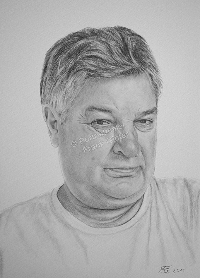 Bleistiftzeichnungen, Portraitzeichnung  Mann, Portrait zeichnen lassen, Portrait vom Foto mit Bleistift, Bleistiftzeichnung