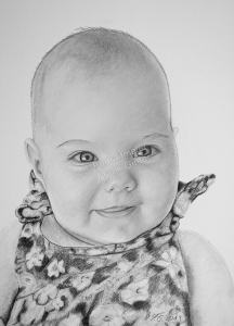 Baby zeichnen lassen, Babyportrait Bleistiften und Kohlestiften, Babyzeichnung Bleistifte, Baby Zeichnungen mit Bleistift, Babys mit Bleistiften gezeichnet, Babyzeichner Fotorealismus