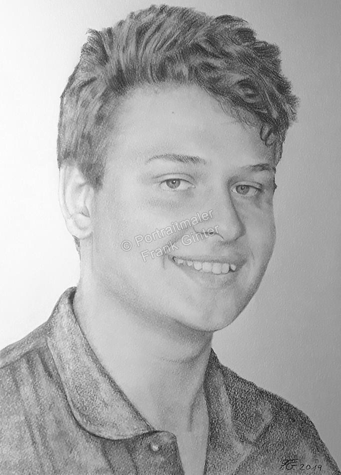 Bleistiftzeichnungen, Portrait mit Bleistifte junger Mann, Männerzeichnung, Männerzeichnungen, Männer mit Bleistiften gezeichnet, Männerzeichner