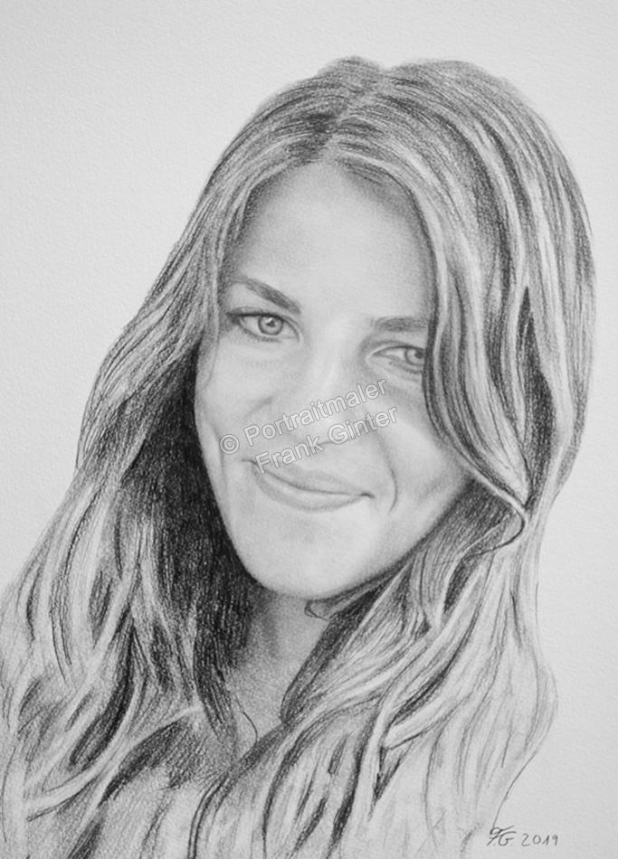 Bleistiftzeichnungen mit junger Frau, Frauenzeichnung, Mädchenzeichnungen, Frauenportraits mit Bleistift, Frauenbilder