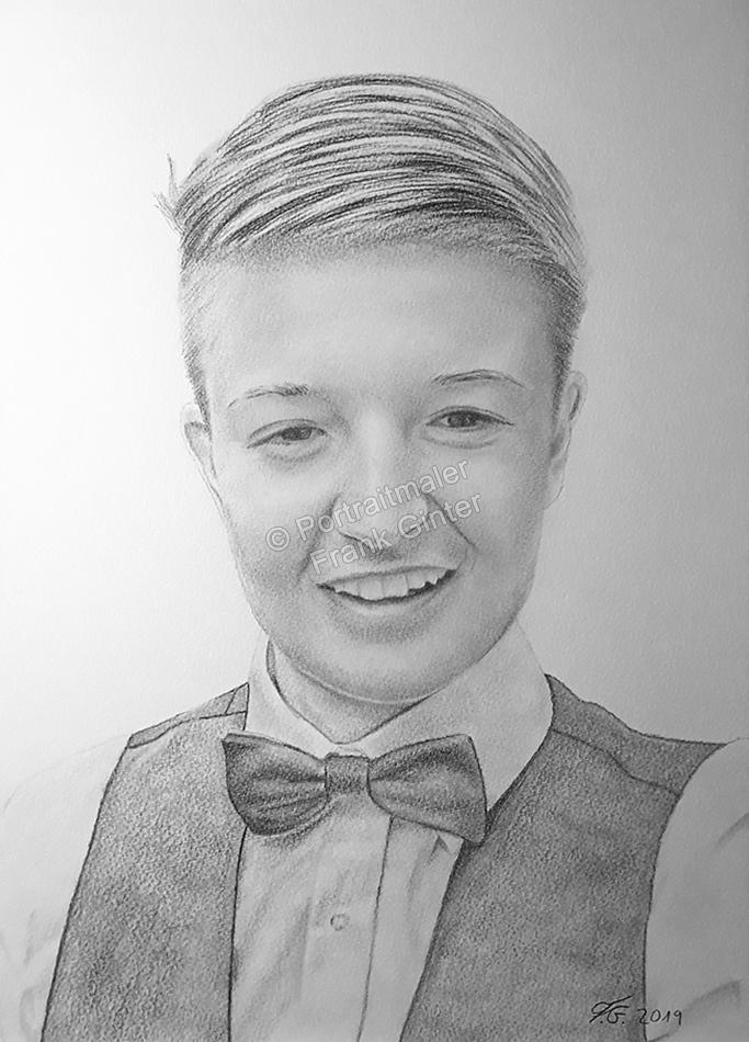 Bleistiftzeichnungen mit jungen Mann, Männerzeichnung, Jungenzeichnungen, Männerportraits mit Bleistift, Männerbilder