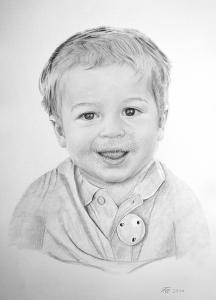 Bleistiftzeichnungen mit Babys, Baby Zeichnung, Baby Zeichnungen, Babyportraits mit Bleistift, Babybilder