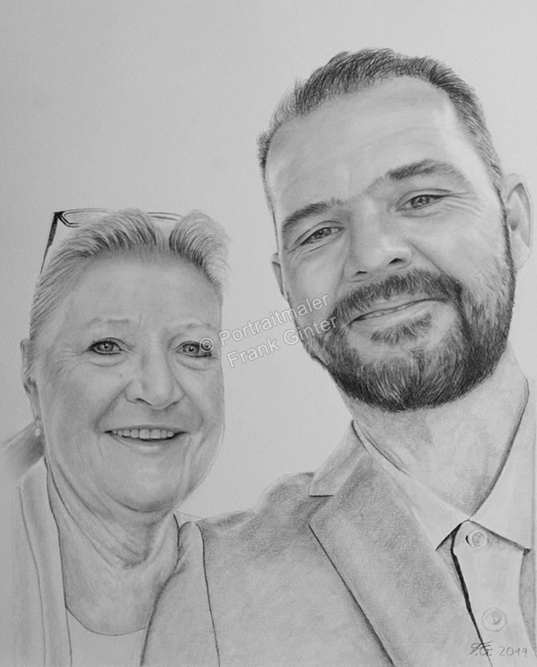 Kohlezeichnungen mit Paaren, Paarzeichnung, Paarzeichnungen, Paarportraits mit Bleistift, Paarbilder gezeichnet