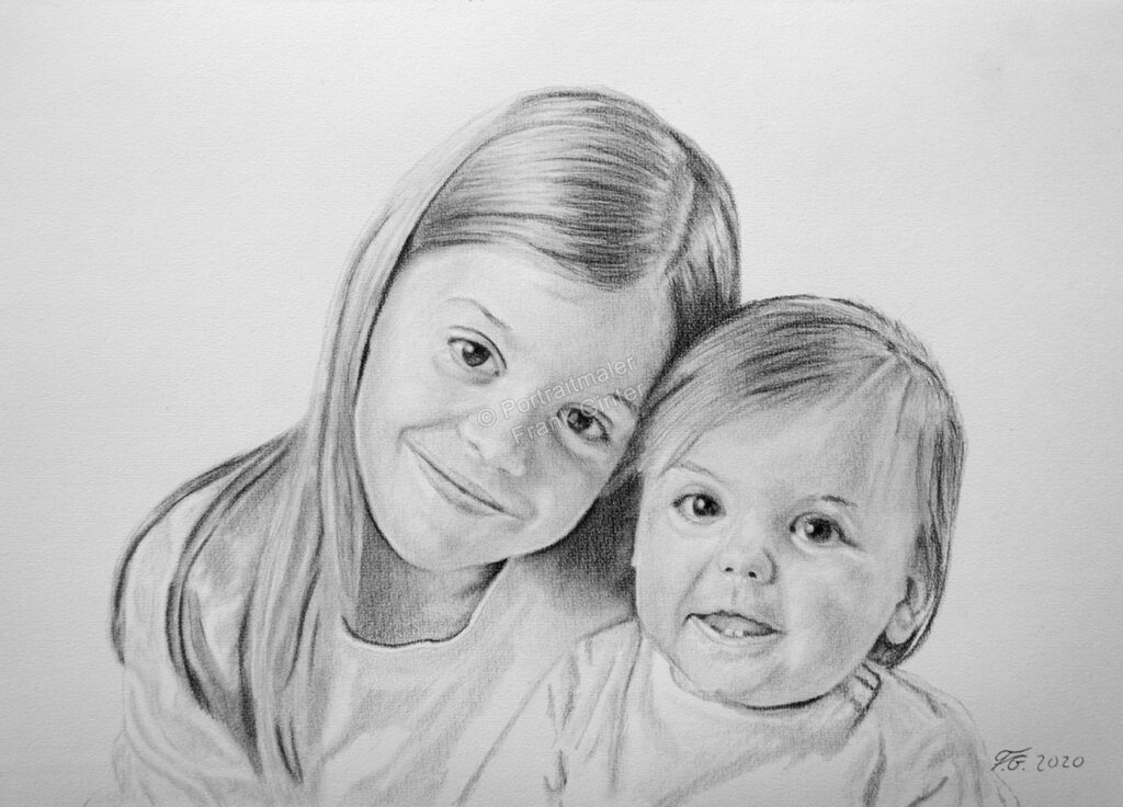 Baby Bleistiftzeichnungen, Babyportrait Bleistiften und Kohlestiften, Babyzeichnung Kohle, Babyzeichnungen, Kinder Babys mit Bleistiften gezeichnet, Babyzeichner Fotorealismus